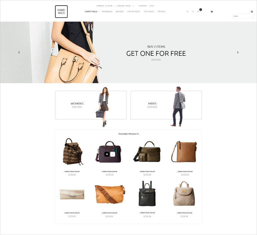 Handbags OsCommerce Template