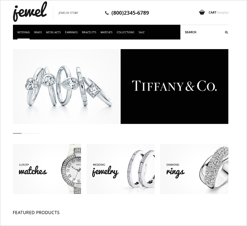 Jewelry Boutique PrestaShop Template