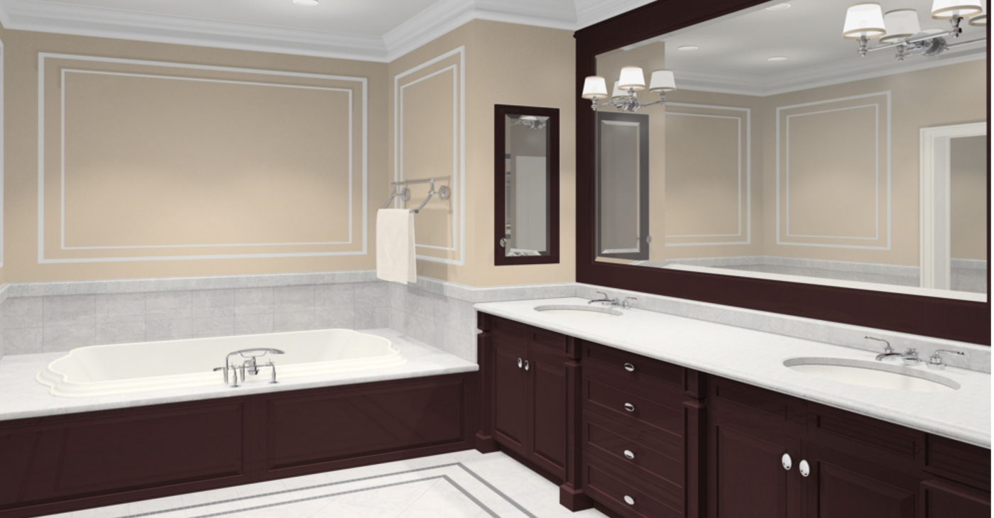 Classic Look Bathroom Cabinet Designs