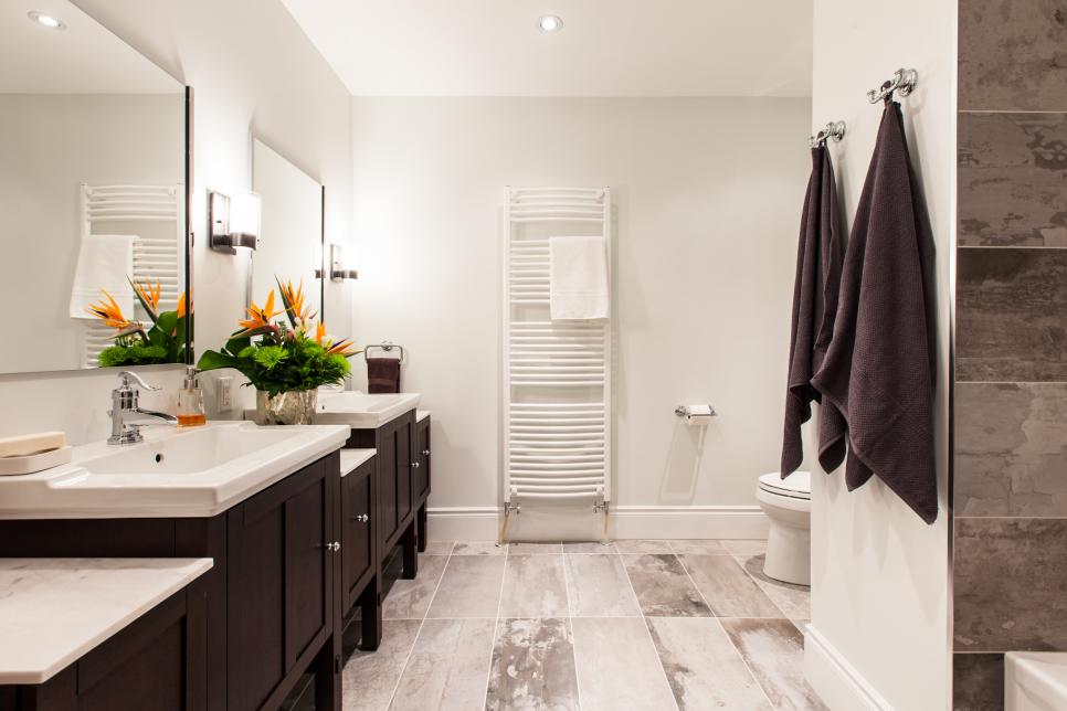 Bathroom with Storage Double Vanities