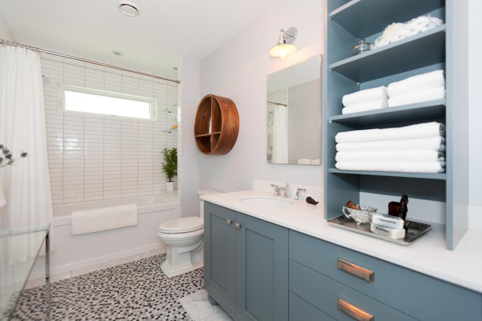 Bathroom with Added Storage
