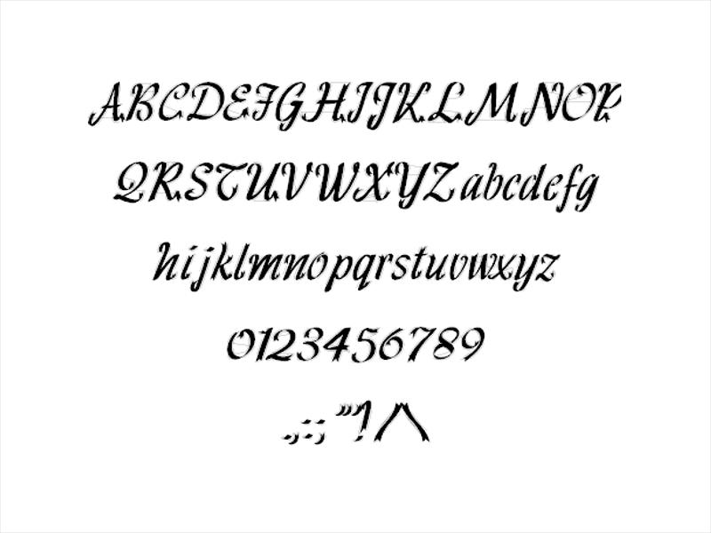 Simple Ribbon Fonts