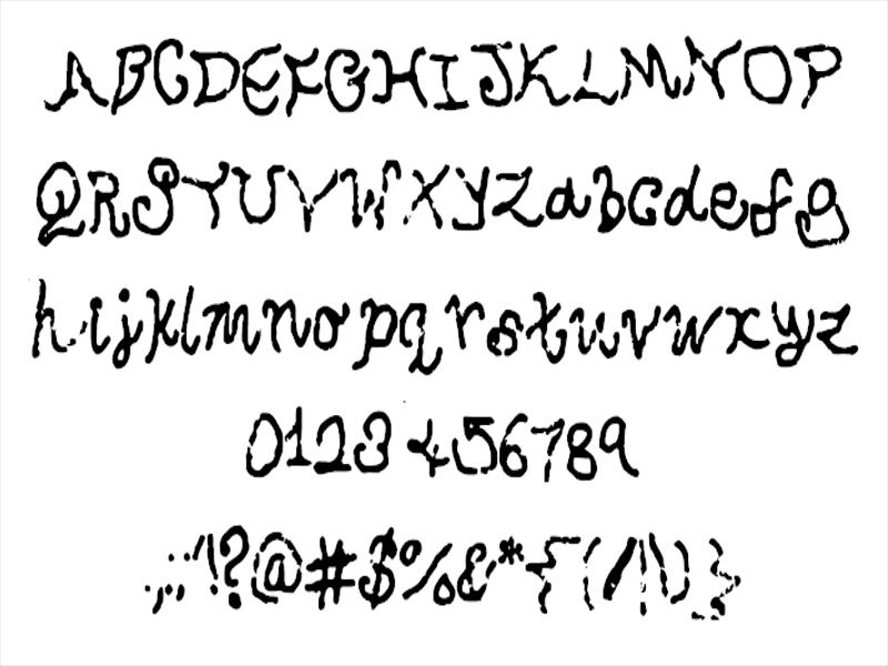 Swirly Ribbon Font