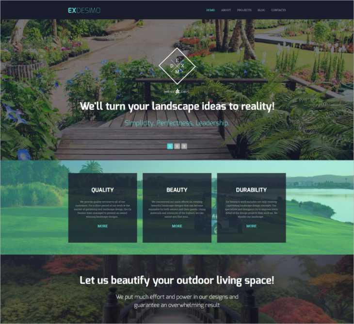 16 easy website themes templates design trends for Exterior design templates