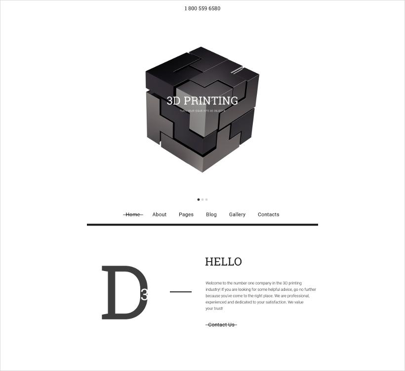 Joomla 3D Printing Template
