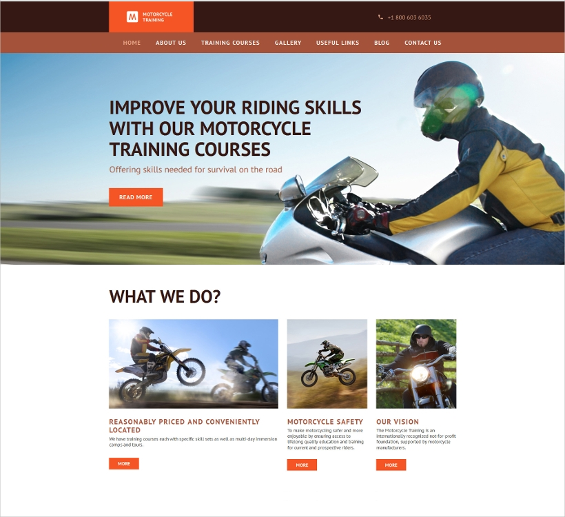 Responsive Moto CMS 3 Template