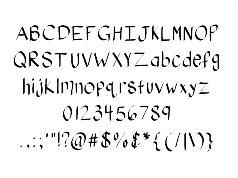 Ribbon Writing Font
