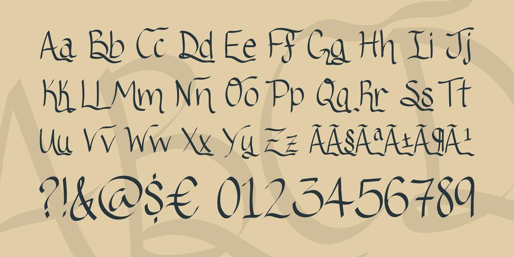 Hand Written Ribbon Fonts
