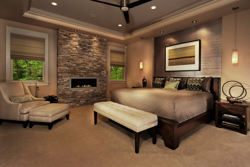 21 bedroom fireplace designs decorating ideas design - Bedroom electric fireplace ideas ...