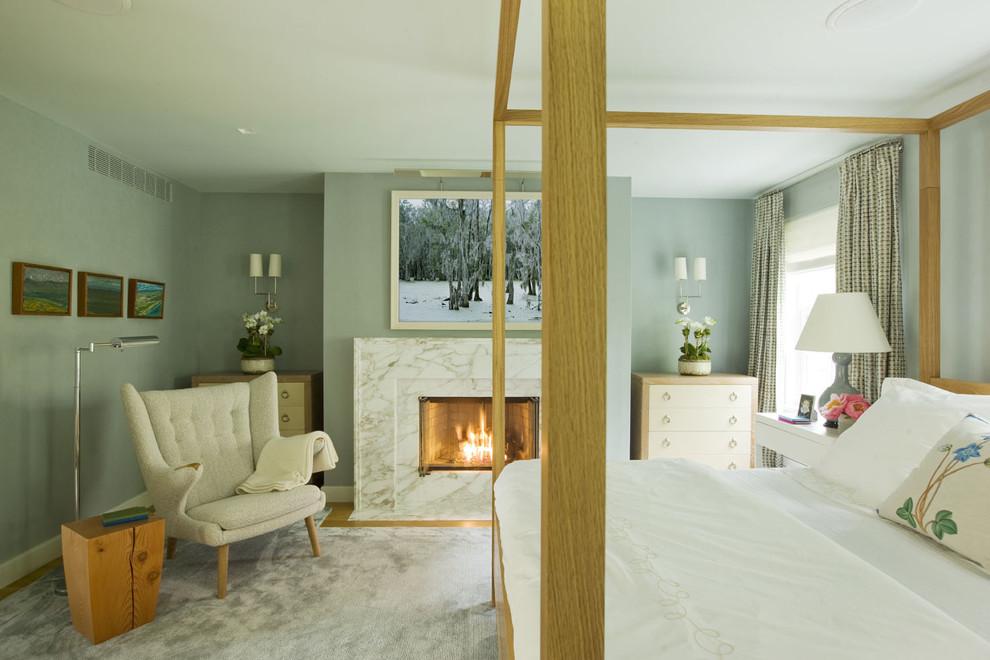 Modern Art Fireplace Design for Bedroom