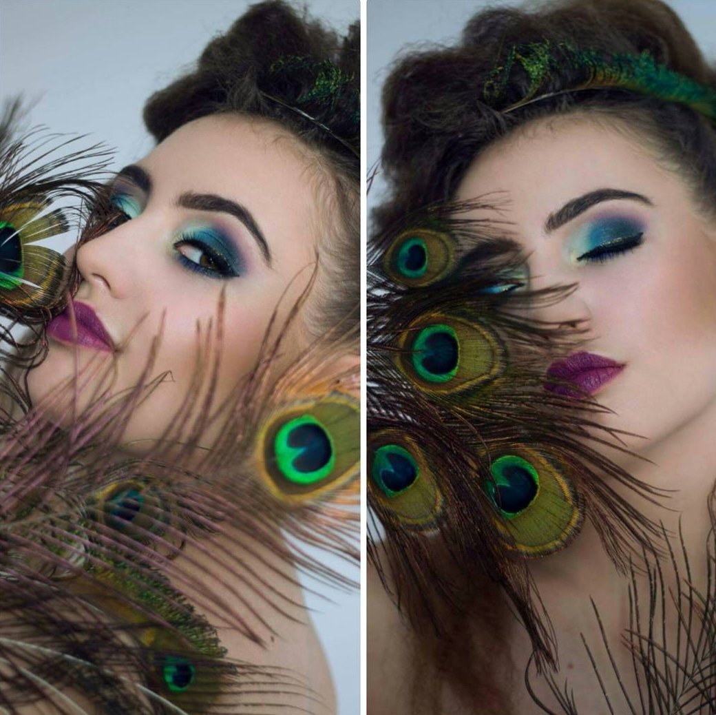Peacock Eye Makeup Art Idea