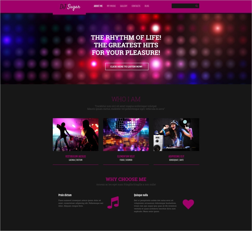 dj music template