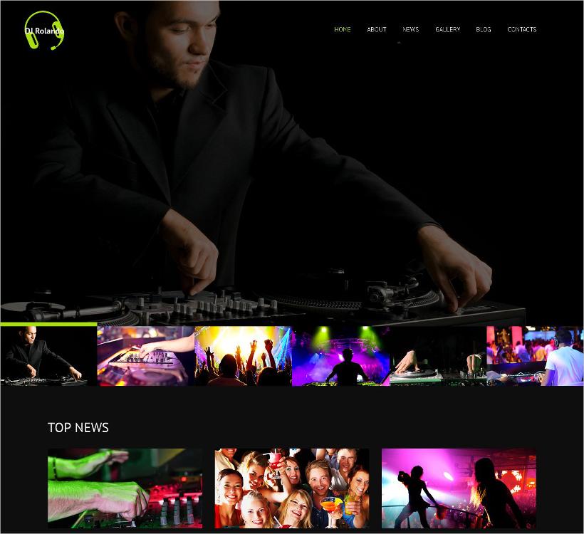 DJ Responsive Template