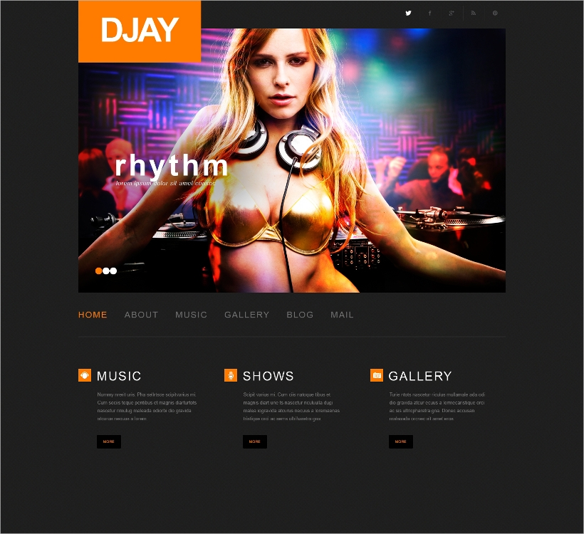 music band wordpress themes