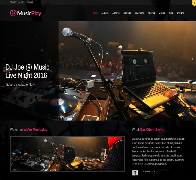 Music & DJ Responsive WordPress Theme
