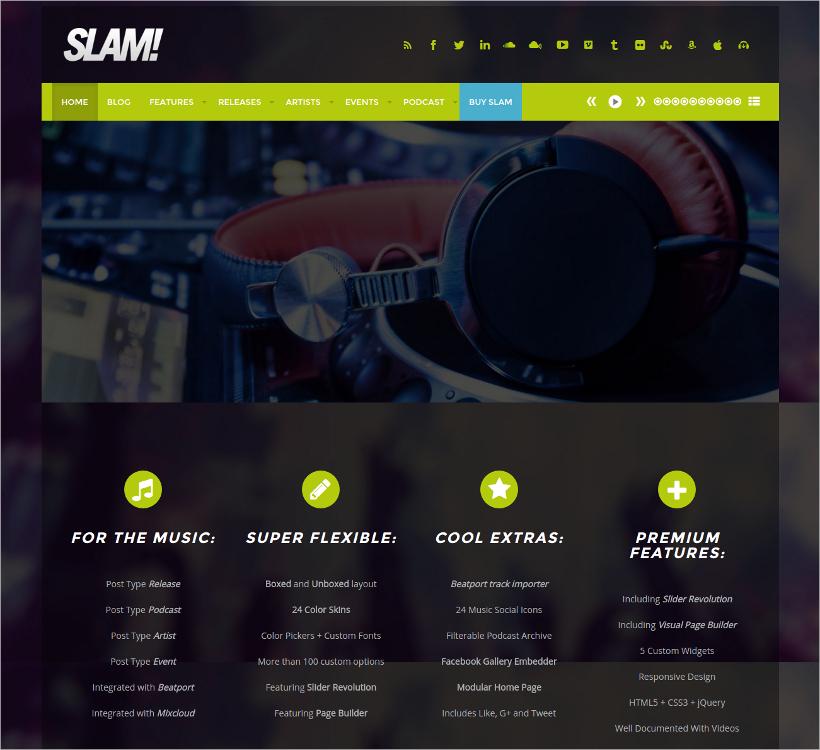 Musician & Dj WordPress Theme