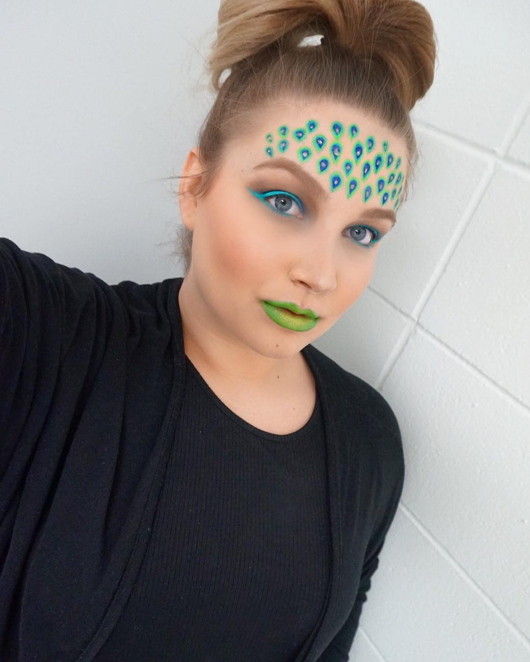 Peacock Inspired Makeup Look