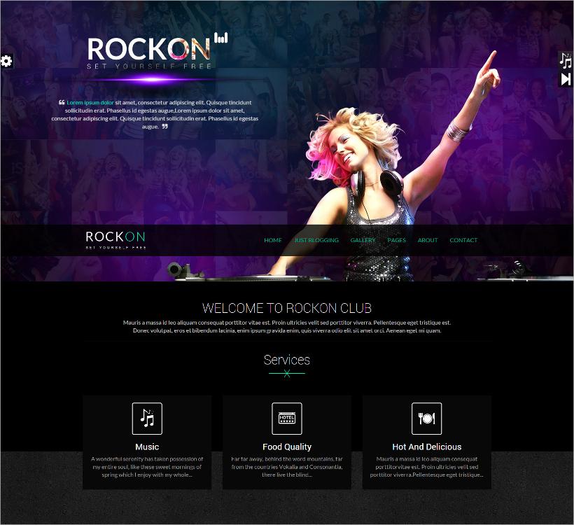 Rockon Responsive DJ Template