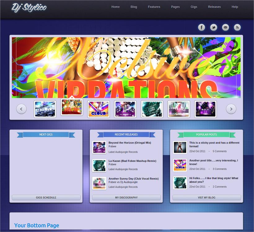 Stylico DJ Theme