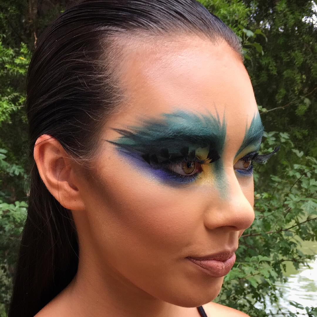 Tribal Peacock Makeup Art