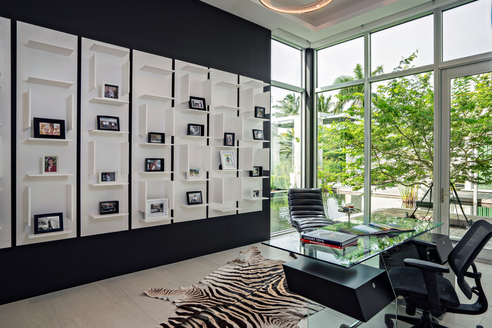 21+ black and white home office designs, decorating ideas | design