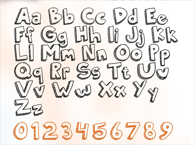 Unique Marker Doodle Font
