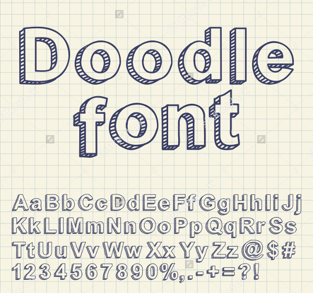 nice abstract doodle font