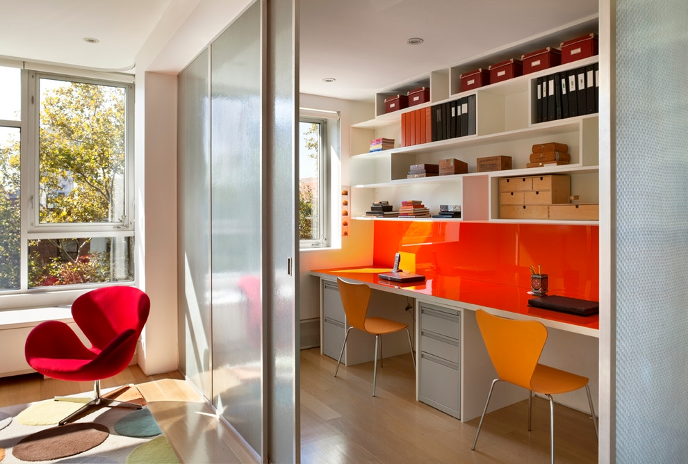 Colorful Home Office Design Idea