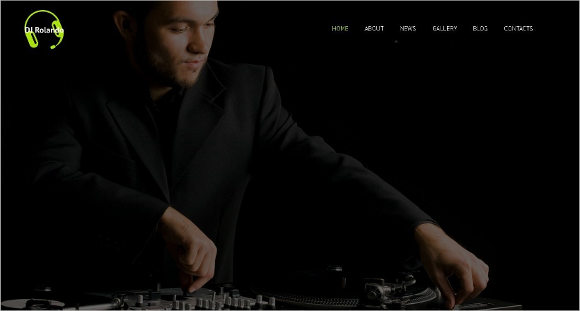 Best Dj Website Themes Templates Design Trends Premium PSD - Dj website templates
