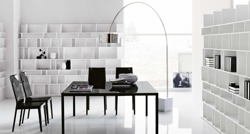 21+ Black and White Home Office Designs, Decorating Ideas | Design ...
