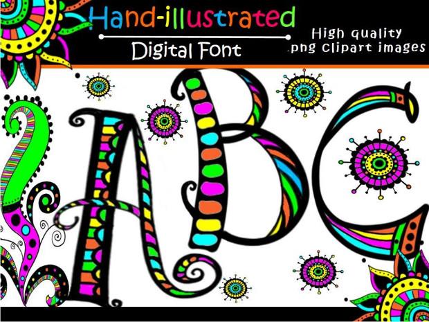 Christmas Doodle Set Font