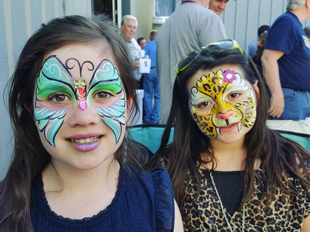 Leopard and Butterfly Printed Face Painting