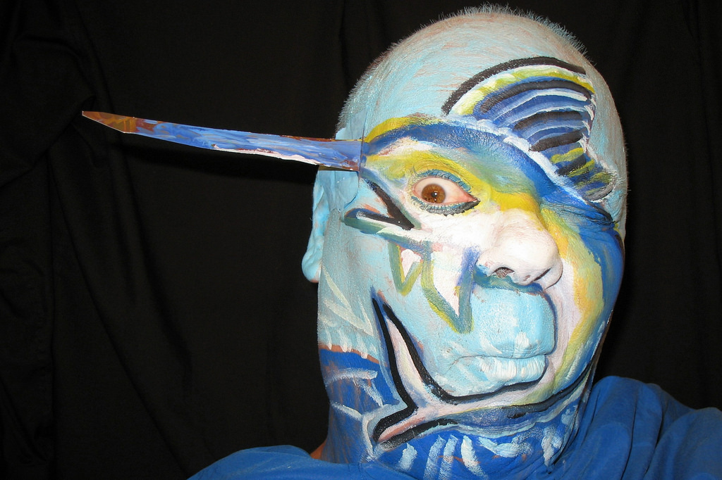 Different Blue Fish Makeup For Face