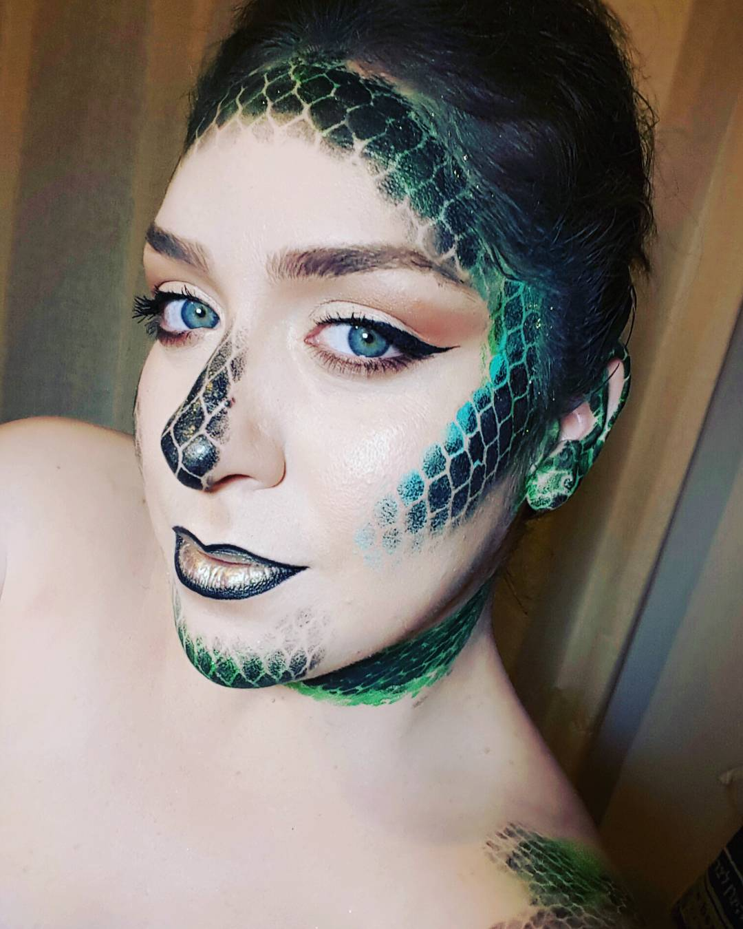 Funny Snakes Makeup For Women