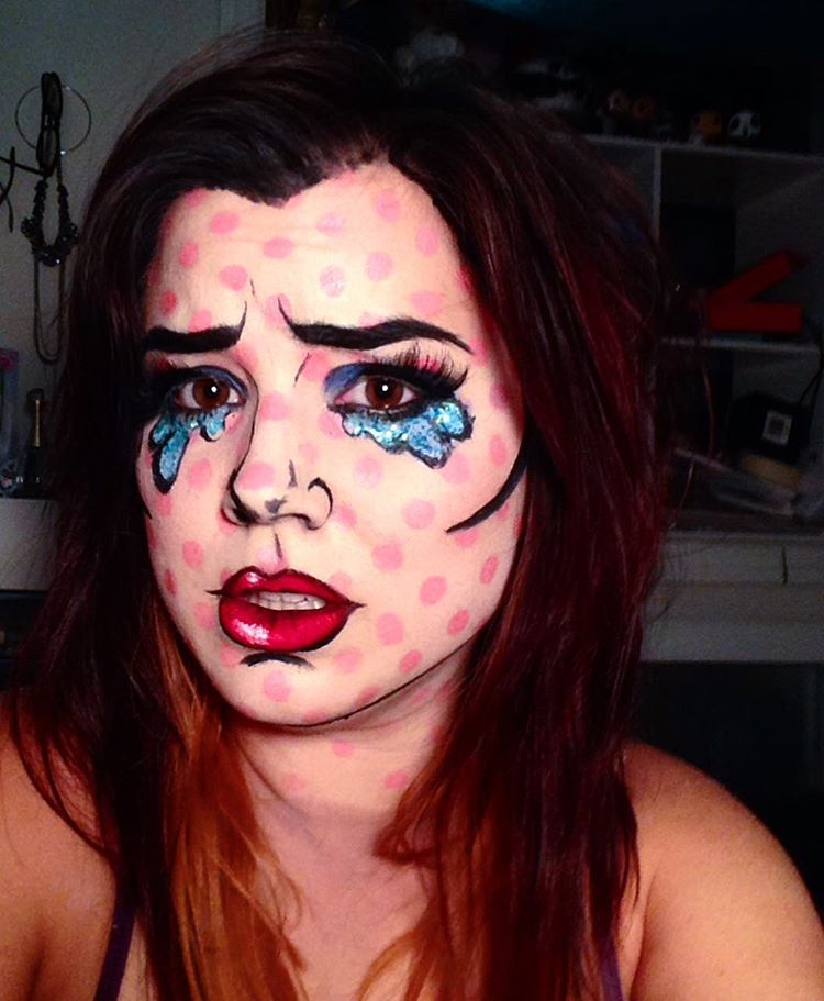 comic popart makeup idea