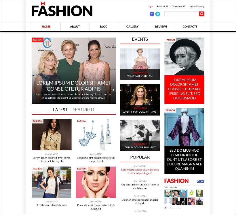 Fashion News Portal WordPress Theme