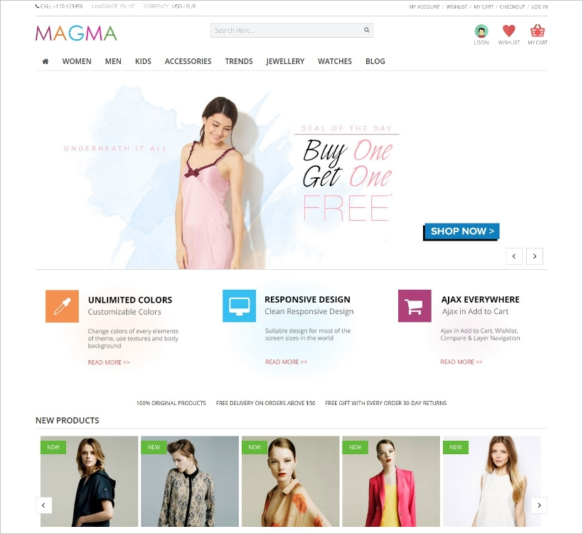 fashion responsive prestashop template