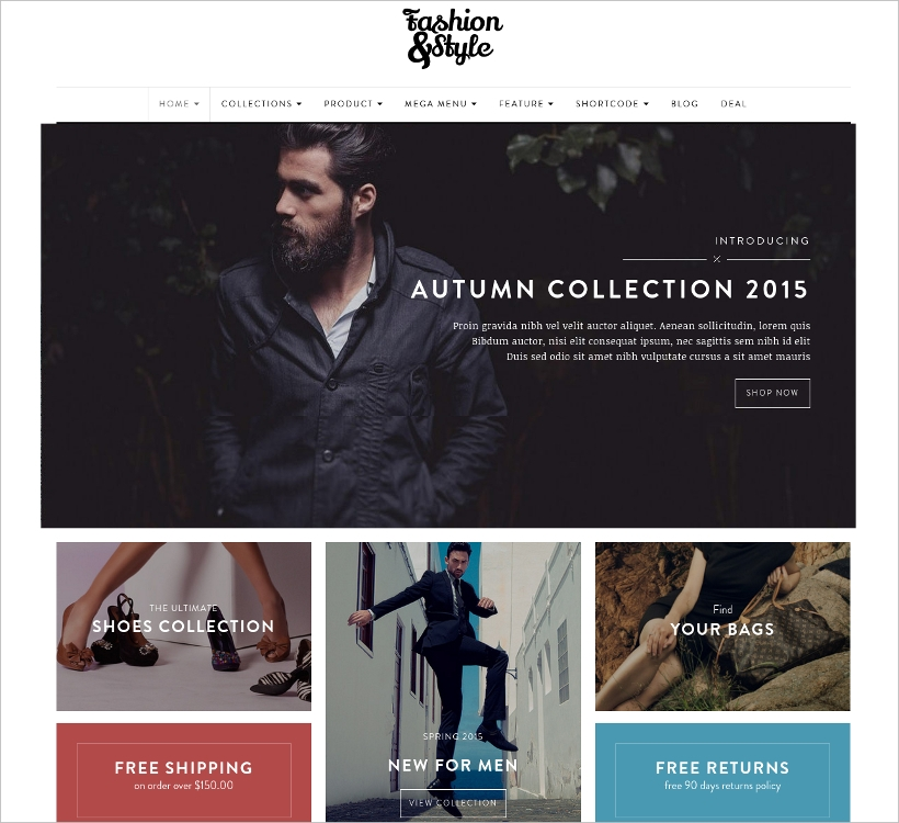 fashion store shopify template