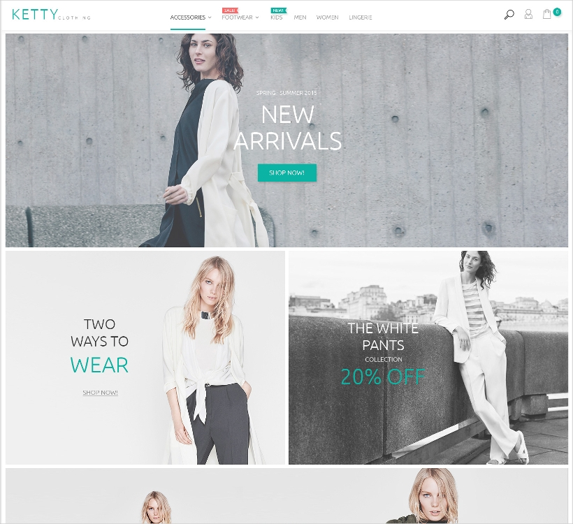 magento fashion clothes store template