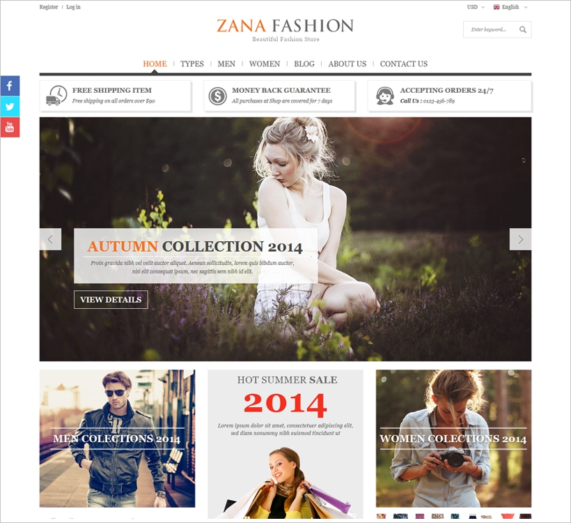 responsive fashion website template