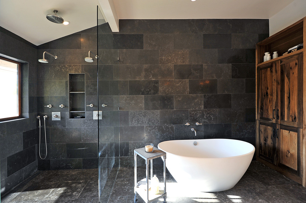 17 Charcoal Bathroom Designs Decorating Ideas Design