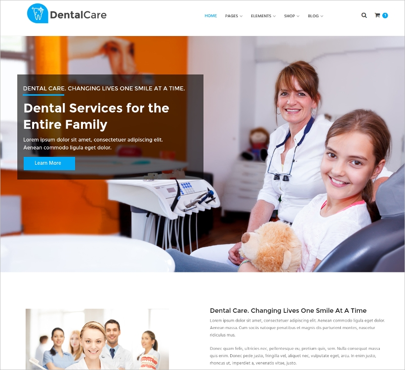 Dental & Medical Website Template