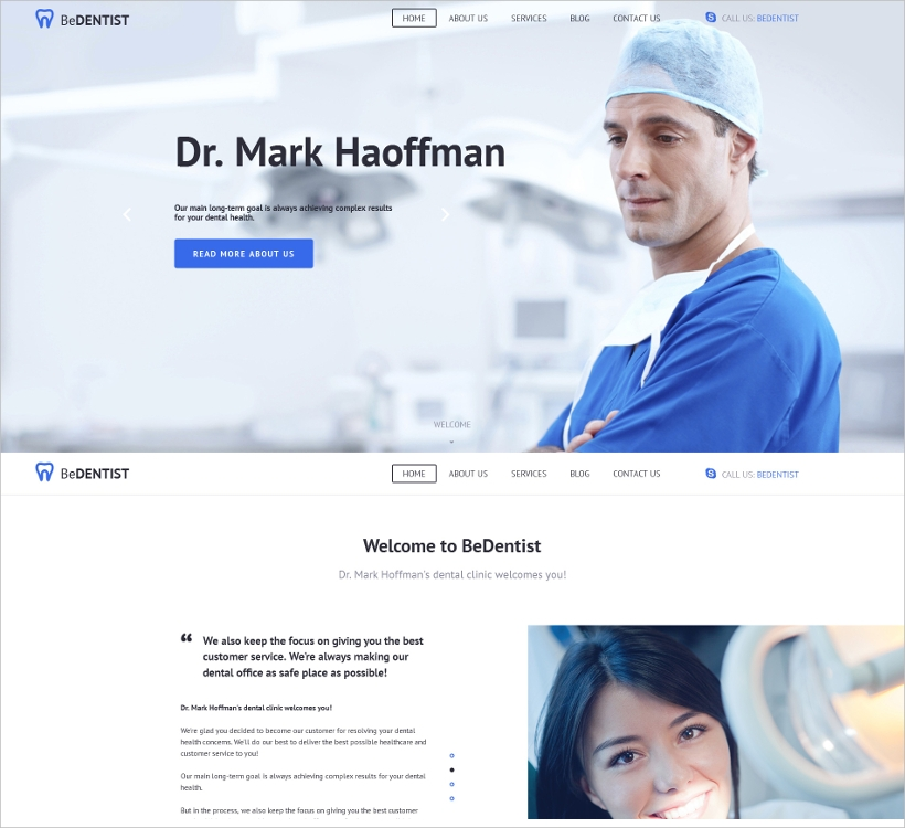 Dentistry CMS 3 Medical Template