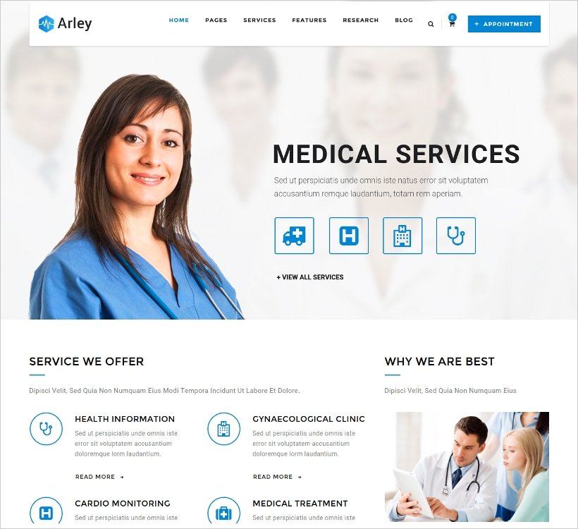 Medical and Health WordPress Theme