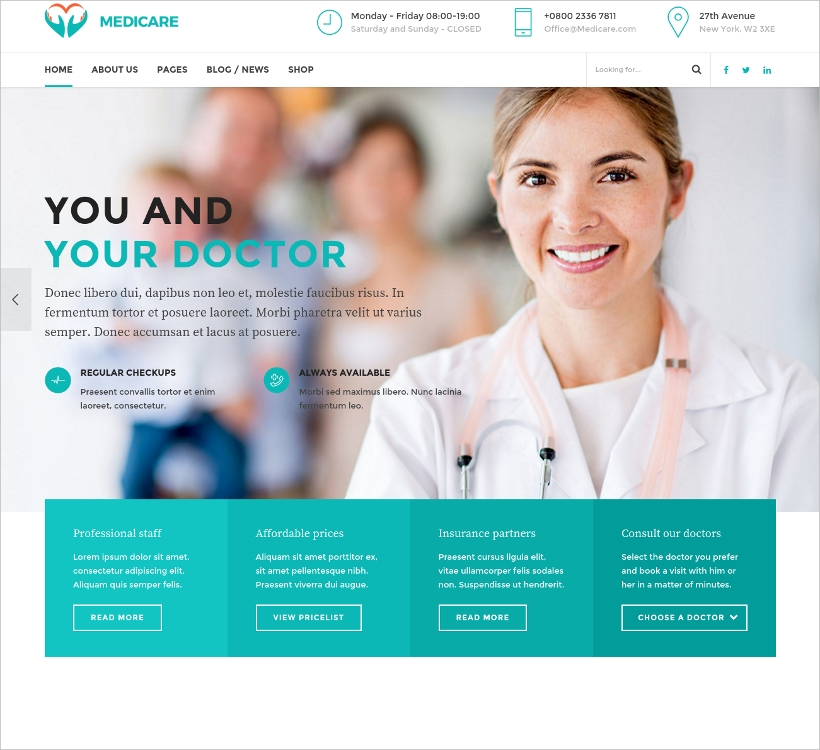 Medical & Health Theme