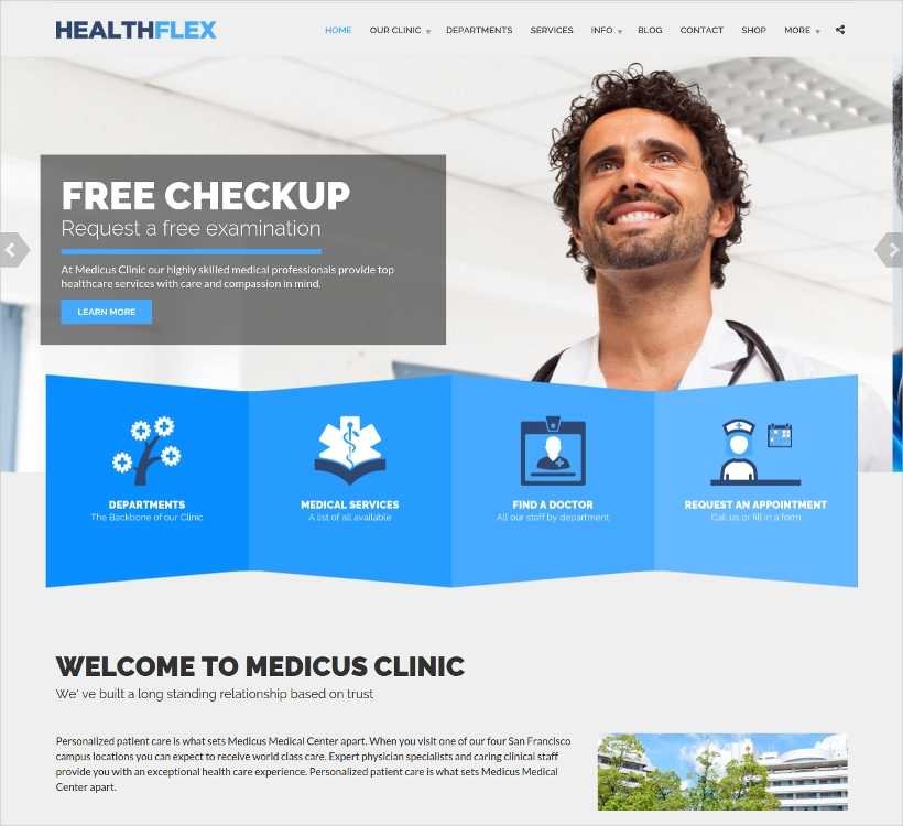 Medical Health WordPress Theme