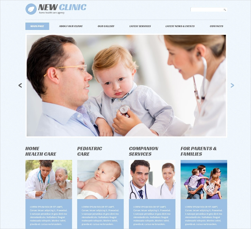 Medical Responsive Template