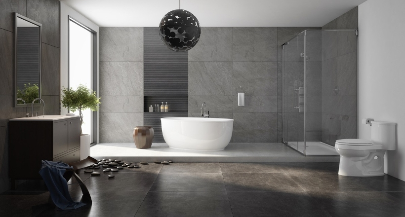 17 Charcoal Bathroom Designs Decorating Ideas Design