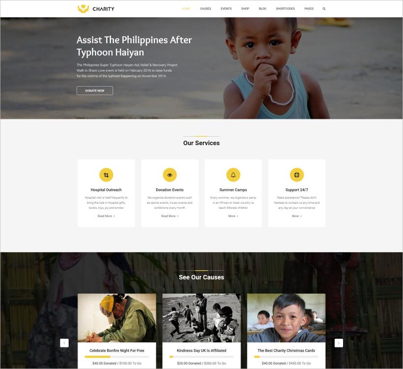 fundraising joomla template