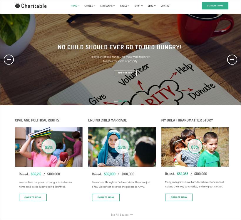 charity non profit template